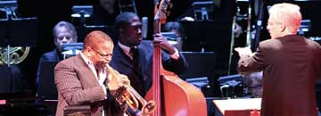 Paul Mazzio conducts the Terence Blanchard orchestra at the Portland Jazz Festival